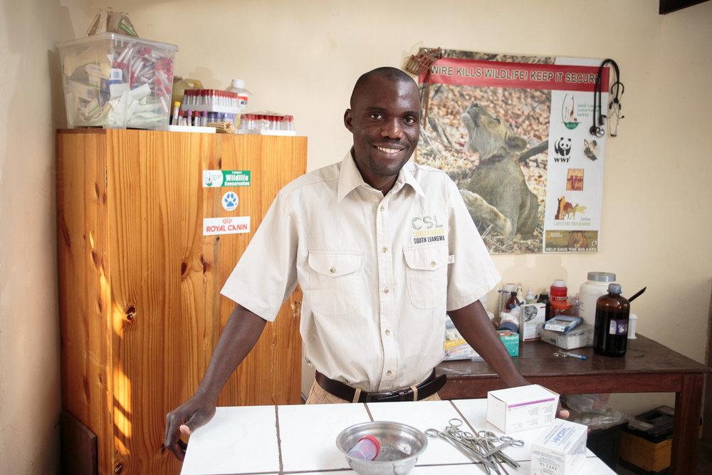 Conservation Veterinarian: Dr. Sichande